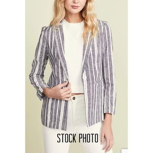 Michael Kors Linen Cotton Belted Blazer Jacket